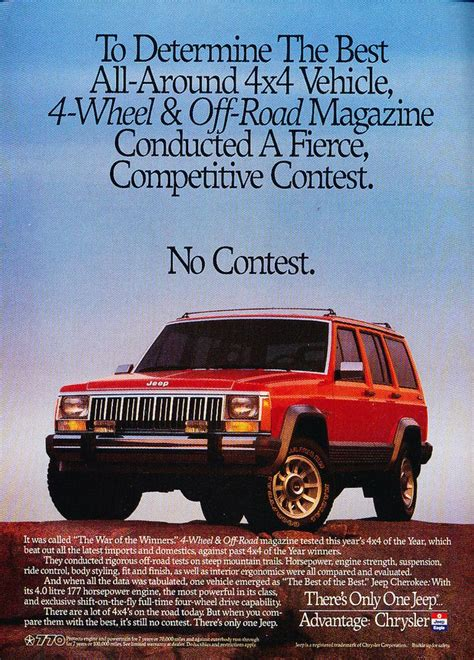 jeep cherokee  contest advertisement jeep
