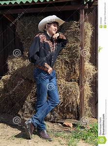 Young, Cowboy, Stock, Photo, Image, Of, Standing, Straw, Male