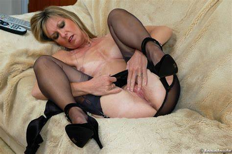Jayde Thrills In Black Nylons And Clothing