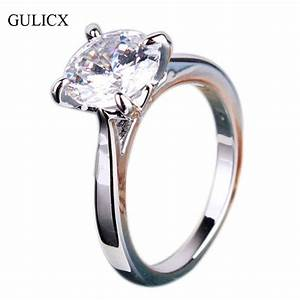 fashion wedding rings 2016 genuine white gold plated With round wedding rings for women