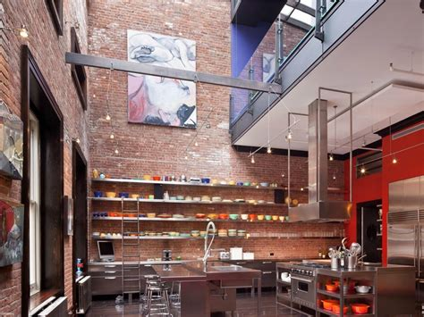Tribeca Loft Mansion Has Million Dollar Style by Mansion Loft Kitchen Space Interior Design Ideas