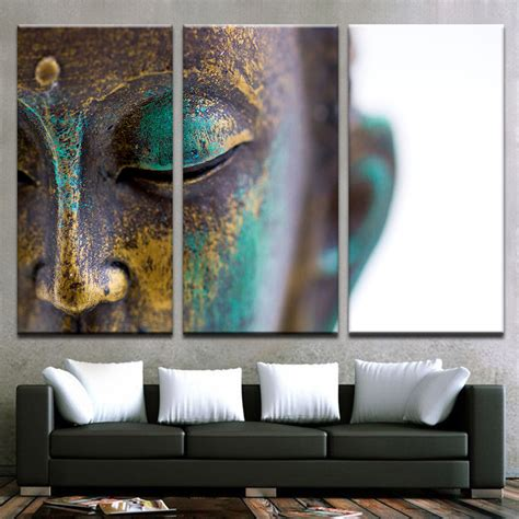 artistic home decor canvas paintings wall home decor 3 pieces buddha