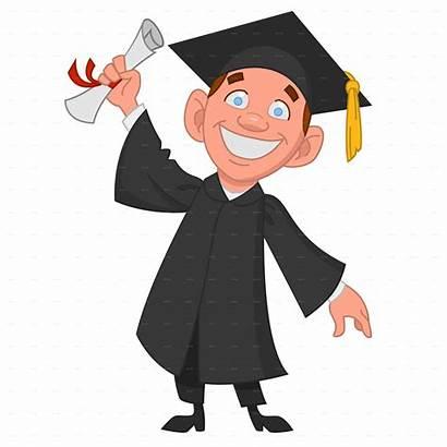 Graduate Graduation Student Clipart University Diploma Clip