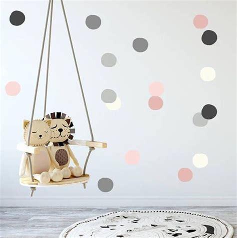 Kinderzimmer Mädchen Nicht Rosa by Baby M 228 Dchen Kinderzimmer Wandtattoo Grau Rosa Polka Dots