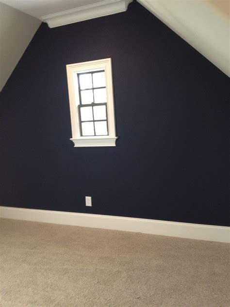 sherwin williams naval accent wall baby boy