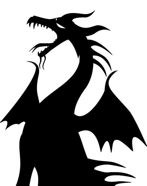 Maleficent Pumpkin Stencil by Dragon Silhouette Clipart Best