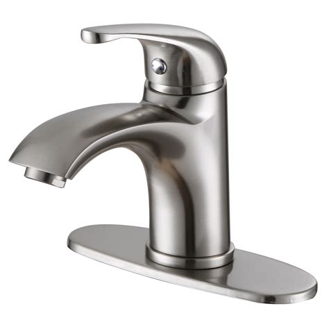 Single Faucet Bathroom Sink elite 57201bn luxury brushed nickel single handle
