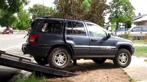 totaled jeep grand cherokee wrecked jeep grand cherokee youtube