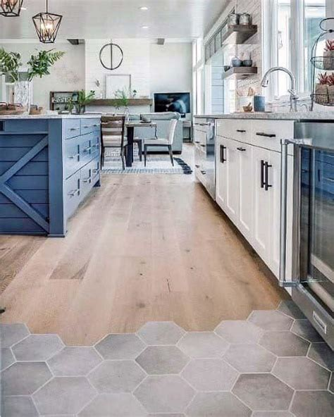 Tile manufacturers are keeping up with the times and following the trends of contemporary 2021 trending kitchen flooring looks. Top 50 Best Kitchen Floor Tile Ideas - Flooring Designs