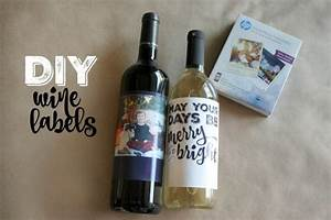 Simply made diy holiday photo gifts simply real moms for Custom wine labels diy
