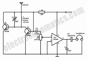 small fm radio circuit With circuit receiver