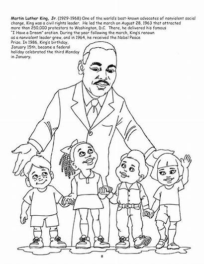 Coloring African American Luther Martin King Leaders