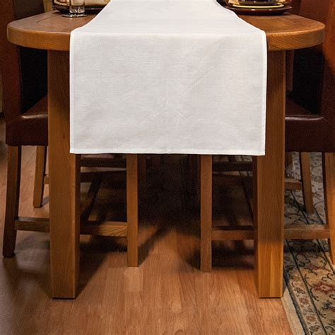 White Linencotton Table Runner 48x140cm  The Clever Baggers