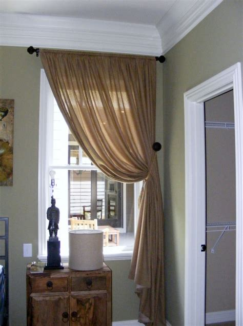 single window curtain accessories delightful window treatment decoration using