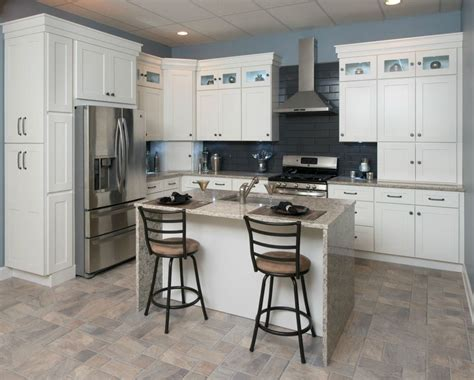 10x10 kitchen cabinets with island all wood kitchen cabinets 10x10 frosted white shaker rta