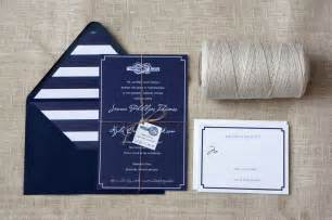 nautical wedding invitations tie the knot navy white wedding invitations onewed