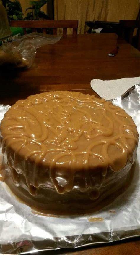 caramel cake  butter caramel icing  sweetened