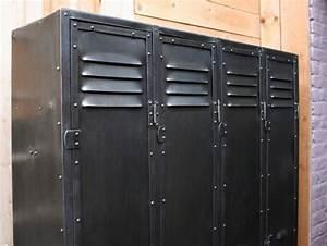 Casier Vestiaire Industriel : vestiaire m tallique casier mobilier industriel ~ Teatrodelosmanantiales.com Idées de Décoration