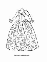 Coloring Barbie Sheets Gown Princess Printables Makeup Bratz Victorian Olds sketch template