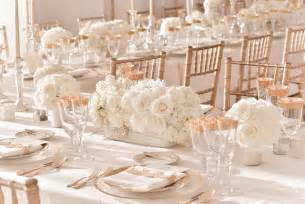 wedding table centerpieces ivory wedding centerpieces with gold table accents and chairs onewed