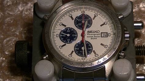 seiko   quartz chronograph fully restored youtube