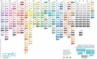 Copic Markers Color Chart