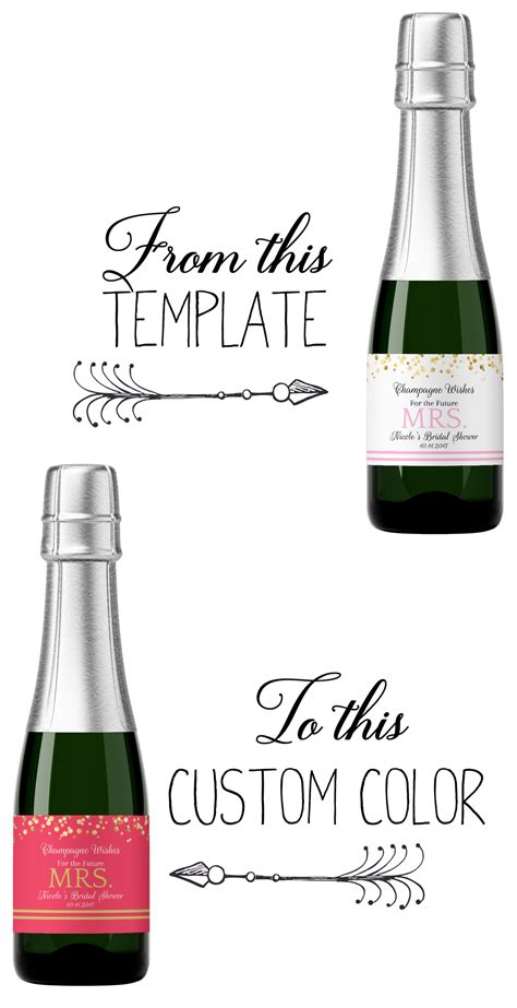 mini wine bottle labels templates how to make a custom label from a template step by step guide