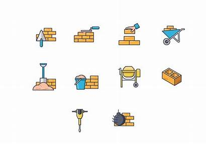 Bricklayer Tools Clipart Icons Watchtaxinyc
