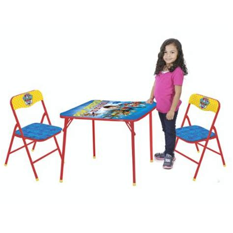 paw patrol table and chair set nickelodeon paw patrol 3 piece table and chair set