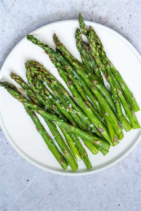 asparagus air fryer parmesan crusted whole recipes carb paleo keto gluten vegan low plate