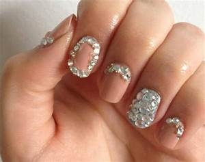 Nails Designs with Rhinestones | Rhinestone Nail art designs