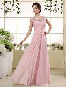 pink prom dresses 2018 long lace illusion chiffon evening With robes de ceremonie 2017