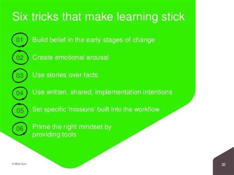 6 Psychological Tricks That Make Learning Stick Power Point