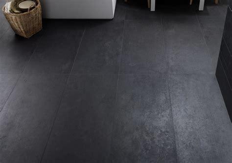 Concrete Dark Grey Matt Porcelain Tile   Floor Tiles from