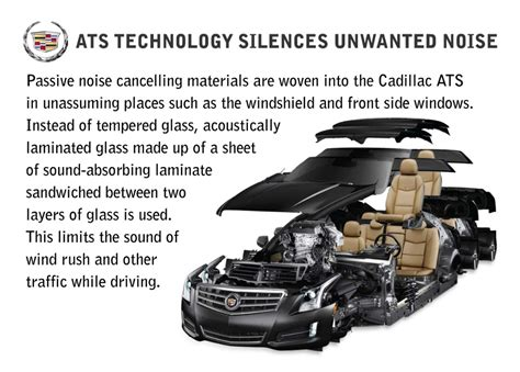 active cabin noise suppression 2005 cadillac cts interior lighting gm 2013 cadillac uses active noise control noiseboard