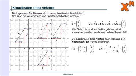 koordinaten eines vektors youtube