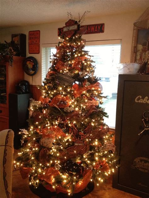harley davidson christmas tree holiday fun pinterest
