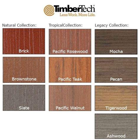 timbertech capped composite deck colors   mocha