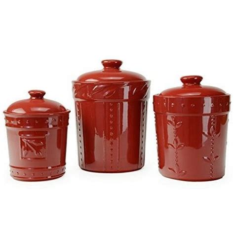 Large capacity,this coffee canister set has a very large capacity that can hold 16oz coffee beans or nuts in total save space,you can make free logistics : Kitchen Canister Set (3) Red 80 Oz 48 Oz 36 Oz Coffee Flour Pasta Storage #SignatureHousewares ...
