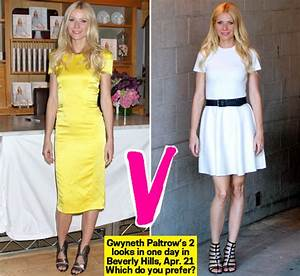 Gwyneth Paltrow Shows Off Two Spring Dresses In One Day In ...