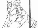 Coloring Pages Roping Team Horse Rodeo Getdrawings Printable Cowgirl Outstanding Getcolorings sketch template