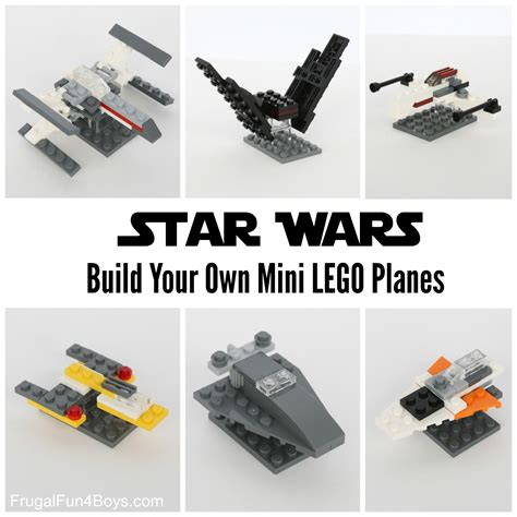 Build Your Own Lego Mini Star Wars Ships Lego