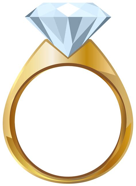 Ring Clipart Gold Engagement Ring Png Transparent Clip Image