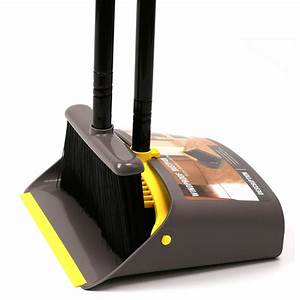 Dust Pan and Broom/Dustpan Cleans Broom Combo with Long ...