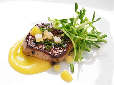 cuisine foie gras pan seared foie gras with spiced citrus purée recipe