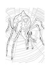 Coloring Arachne Monsters sketch template