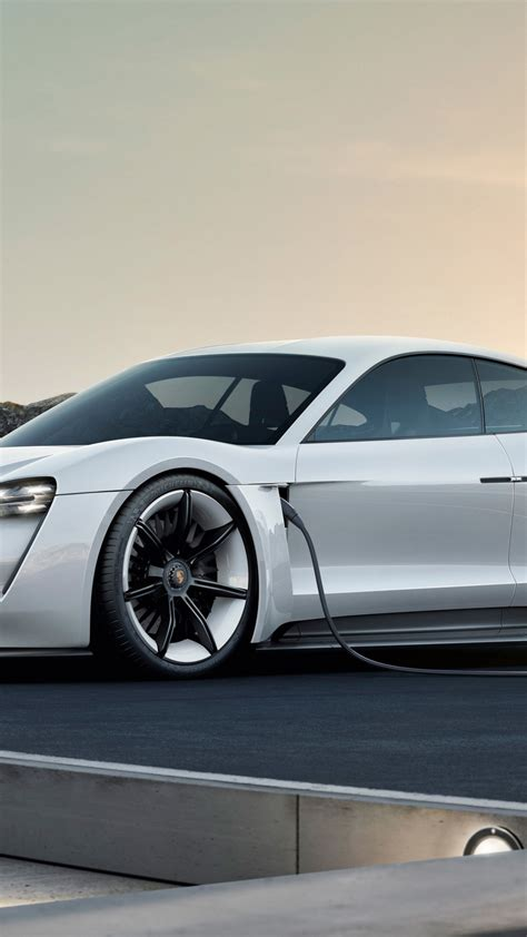 wallpaper porsche taycan electric car supercar