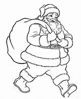 Santa Clause Coloring Stackbookmarks sketch template