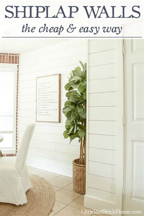 shiplap walls  cheap easy  board batten