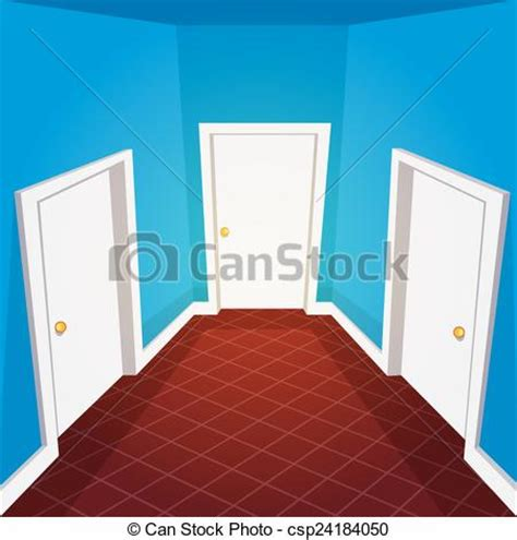 banque d accueil bureau vecteur clipart de maison couloir illustration